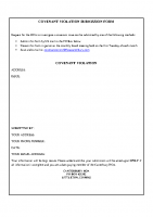 Covenant Violation Form (PDF)